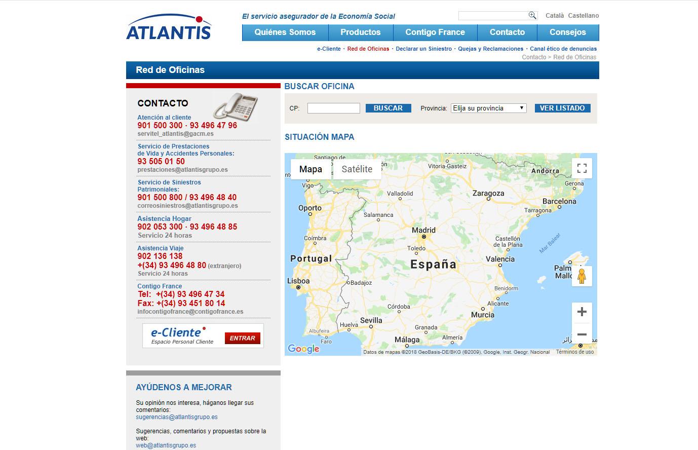 ATLANTIS SEGUROS CONTACTO Y TELEFONOS