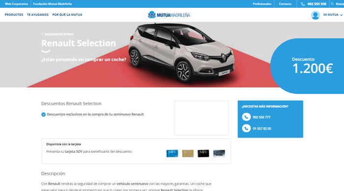 descuento renault selection
