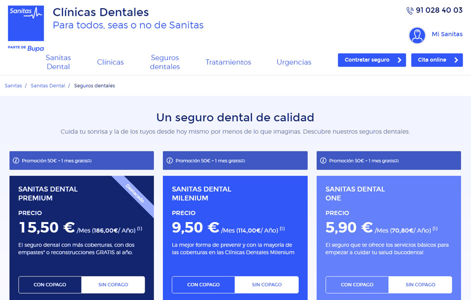 seguro dental sanitas