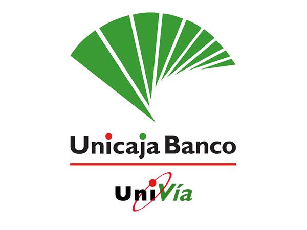 univia logotipo unicaja y univia fusionados